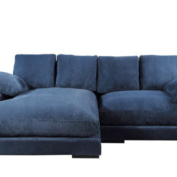 Plunge Sectional Sofa Navy Blue