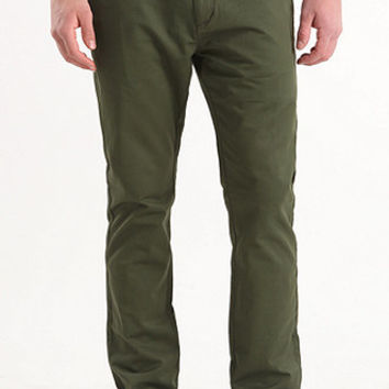 Bullhead Denim Co Dillon Skinny Forest Green Chino Pants at PacSun.com