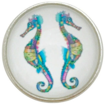 Seahorse Snap Charm 20mm for Snap Jewelry
