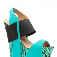 Sea Foam Abstract Print Faux Nubuck Open Toe Wedges @ Cicihot Wedges Shoes Store:Wedge Shoes,Wedge Boots,Wedge Heels,Wedge Sandals,Dress Shoes,Summer Shoes,Spring Shoes,Prom Shoes,Women's Wedge Shoes,Wedge Platforms Shoes,floral wedges