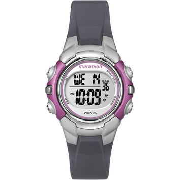 Timex Marathon Digital Mid-Size Watch - Black-Pink [T5K646]
