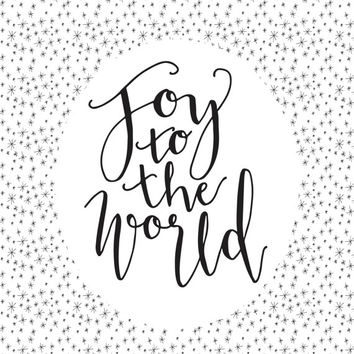 Joy to the world, Christmas sign, Instant PRINTABLE christmas art, holiday art, gifts under ten, Christmas decor