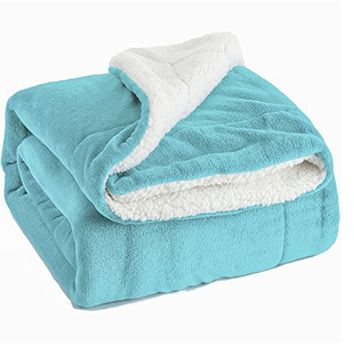 Luxury Blanket 60x80 Reversible Fuzzy Microfiber Sherpa Throw