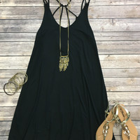At My Best Tunic Dress: Black