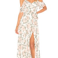 Lovers + Friends Taylor Gown in White Flore | REVOLVE