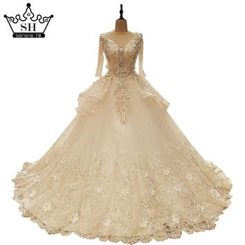 White Sexy Sleeveless Tulle Wedding Dress Embroider Pearls Bridal Gown