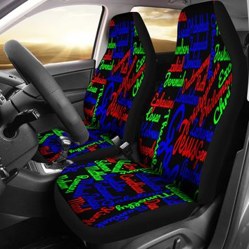 Custom-Made Holy Bible Books Mixed Colors Car Seat Covers
