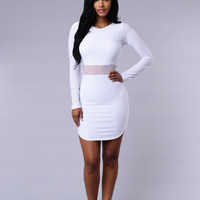 A - List Dress - White
