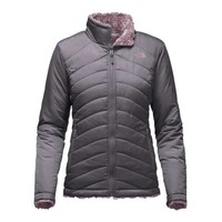 The North Face Mossbud Swirl Reversible Jacket for Women in Rabbit Grey NF00CUB5-LJN