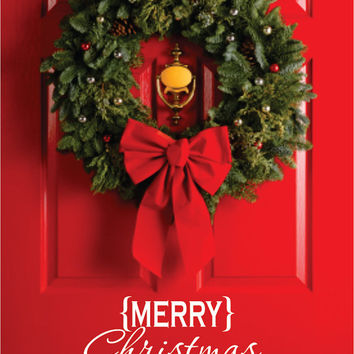 Christmas Vinyl, Merry Christmas Decal, Front Door Christmas Decor Vinyl Decal, Merry Christmas Vinyl Lettering Entry Way or Porch Decal
