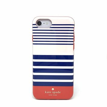 Kate Spade New York Protective Case for iPhone 7 & iPhone 6 - Laventura Red / Navy / Blush