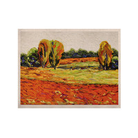 "Jeff Ferst ""Summer Breeze"" Orange Foliage KESS Naturals Canvas (Frame not Included)"