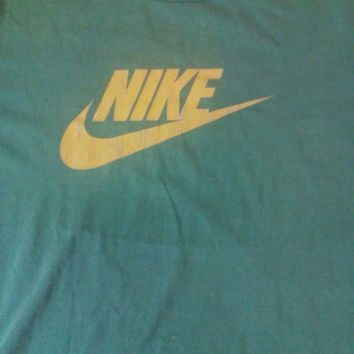 Nike green yellow vintage