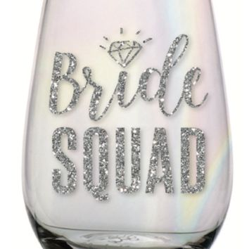 Bride Squad 20 oz. Stemless Wine Glass