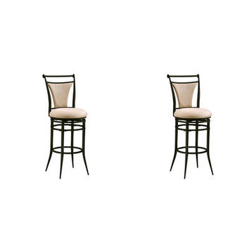 Fawn Fabric Cierra Swivel Counter & Bar Stool