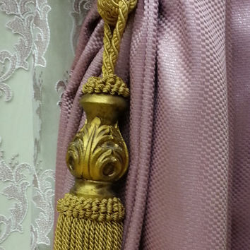 Curtain Accessories - Macrame Curtain Accessories - Gold Color Accessories - F708