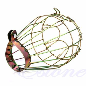 New Industrial Brass Wire Bulb Cage Clamp On Lamp Guard Vintage Trouble Lights