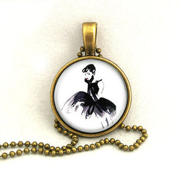 10% SALE - Necklace Audrey Hepburn Breakfast at Tiffany's,Ballet Skirt, Pendant Necklaces Gift