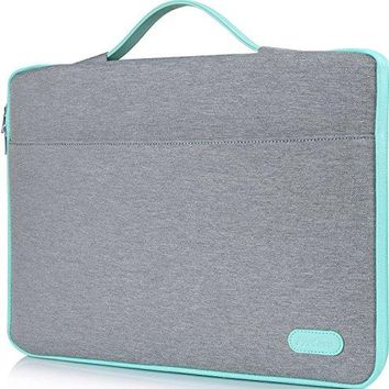 "ProCase 14 - 15.6 Inch Laptop Sleeve Case Protective Bag for 15"" MacBook Pro/ Pro Retina, Ultrabook Notebook Carrying Case Handbag for 14"" 15"" Lenovo Dell Toshiba HP Chromebook ASUS Acer (Light Grey)"
