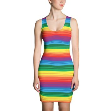 PRIDE, RAINBOW Body Con Dress