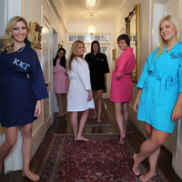 Greek Monogram Waffle Robe Personalized Sorority Letters