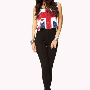 British Flag Crop Top