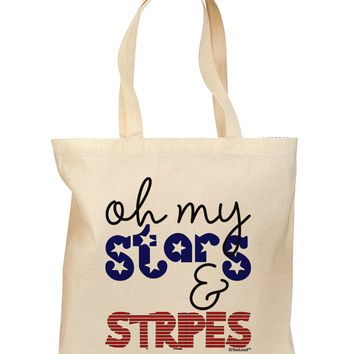 Oh My Stars and Stripes - Patriotic Design Grocery Tote Bag