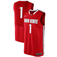 Nike Ohio State Buckeyes #1 Authentic Elite Basketball Jersey - Scarlet
