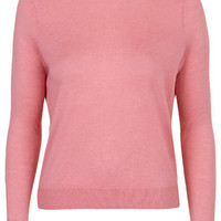Fine Gauge Crew Neck Jumper - Rose