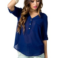 Favorite Double Pocket Blouse