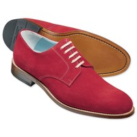 Red suede Millbank Derby shoes | Men's casual shoes from Charles Tyrwhitt | CTShirts.com