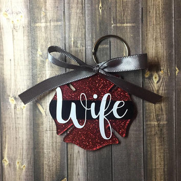 Firefighter Wife Keychain