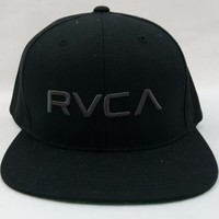 RVCA Men's Twill Snapback Hat  Black One Size