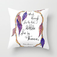 Fierce Throw Pillow by Jennifer Weger