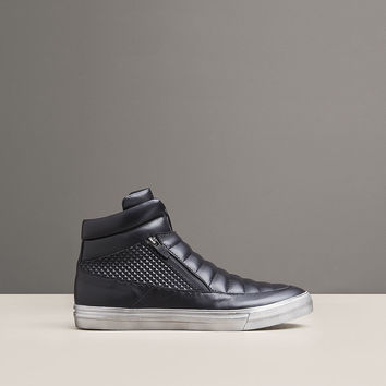 FOREST HILL HIGH-TOP LEATHER SNEAKER