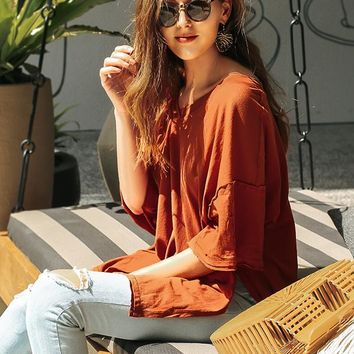 Distressed Oversized T-shirt