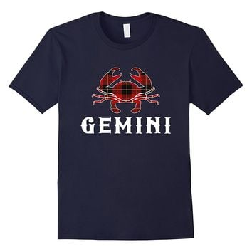 Gemini Pride Scottish Plaid T-shirt Red Tartan