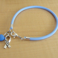 Periwinkle Awareness Bracelet / Ankle Bracelet - Cleft Palate, Eating Disorders, Esophageal Cancer, Stomach Cancer, GERD, IBS, PH  & More