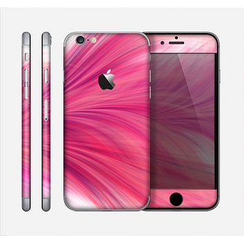 The Abstract Pink Flowing Feather Skin for the Apple iPhone 6