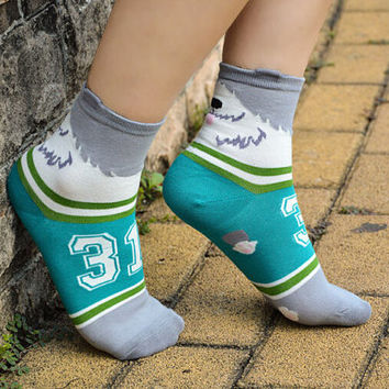 Unisex funny socks, animal socks, cozy feet, ankle socks, crazy socks