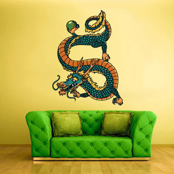 Full Color Wall Decal Mural Sticker Art Asian Japaneese Japan Dragon Ethnic (col203)
