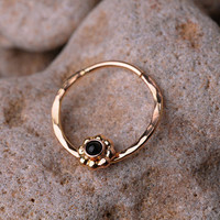 SEPTUM RING / EAR /Cartilage 14 K Gold by BensJewelryCreations