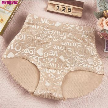Top Selling Women Sexy Buttock Lifting Underwear No Trace Hips Pads Pads False Hips Air Letters Print Ladies Waist Briefs Plus