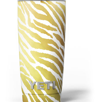 The Highlighted Golden Zebra Pattern Yeti Rambler Skin Kit