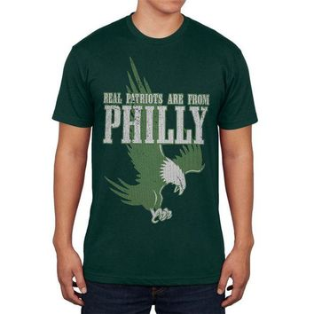 DCCKU3R Real Patriots Are From Philly Vintage Distressed Mens T Shirt