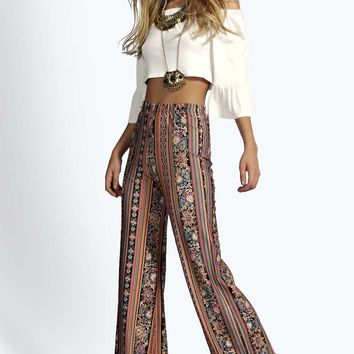 Stacy Super High Waist Paisley Flares