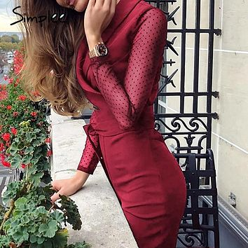 45009f7d66 Simplee Sexy v-neck women jumpsuit romper Elegant long sleeve of