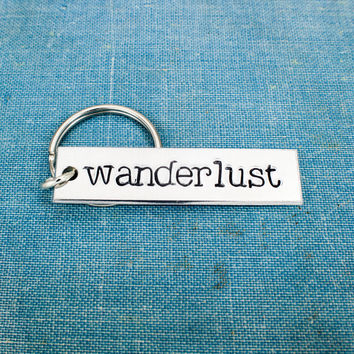 Wanderlust Key Chain - Travel - Adventure - Explore - Aluminum Key Chain