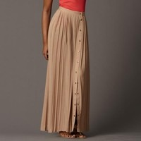 Nadine Skirt Color: TAUPE