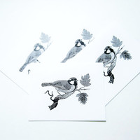 Set of Bird Cards   Note Card Set   Bird Greeting Cards   Bird Stationery   Pretty Cards for Bird Lovers   Blank Note Cards   All Occassion